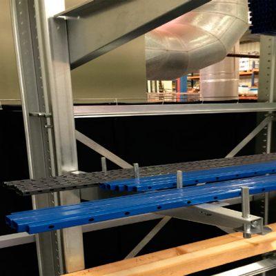 STOCKAGE : Cantilever léger pour ateliers et entrepôts dans vos bâtiments.
