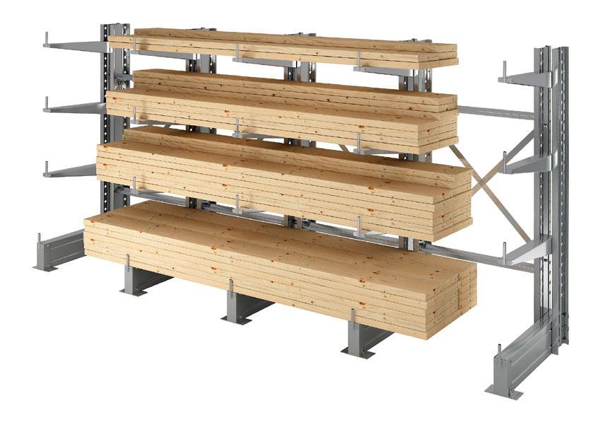 STOCKAGE : Cantilever lourd pour ateliers et entrepôts dans vos bâtiments.