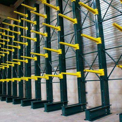 STOCKAGE : Cantilever Léger / lourd pour ateliers et entrepôts dans vos bâtiments.