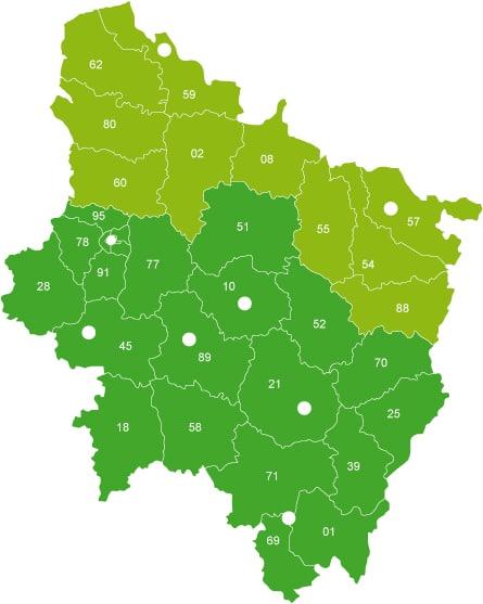 Carte de zone commerciale BR Équipement / BEWOP