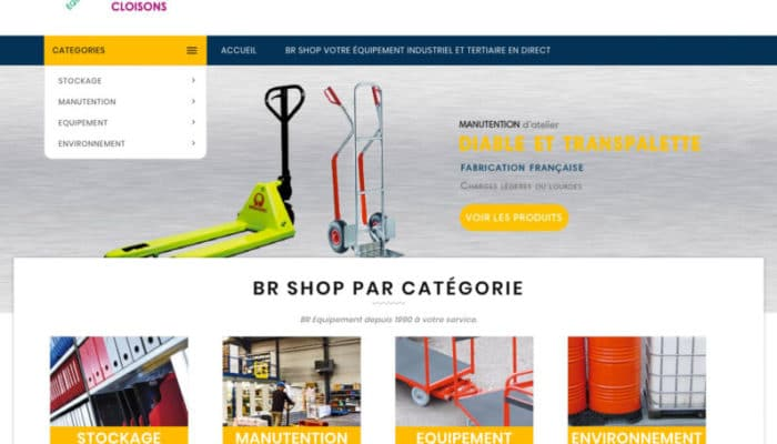www.br-shop.fr votre boutique pour vos équipements industriels et tertiaires en direct.