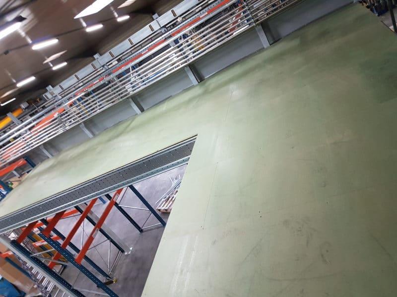 plancher de plateforme de stockage