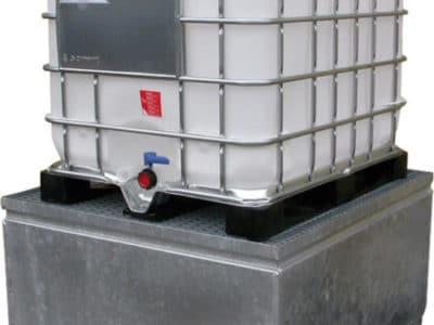 Bac de rétention métallique conforme à la norme EN ISO 1461