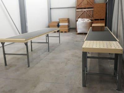 convoyeurs à rouleaux et table à billes