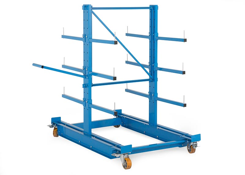 Cantilever rayonnage mobile