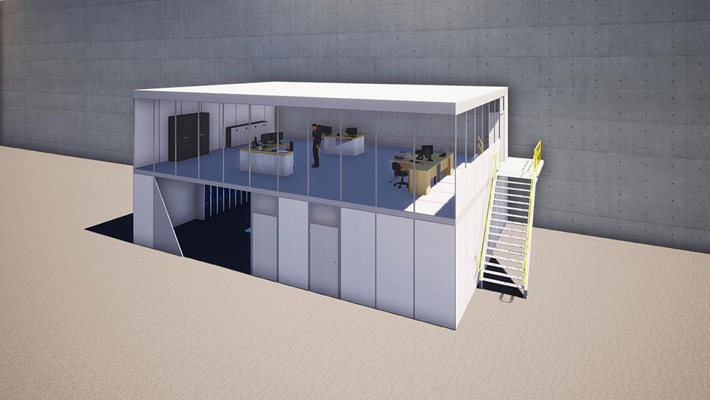 Plateformes bureaux maquette 3D